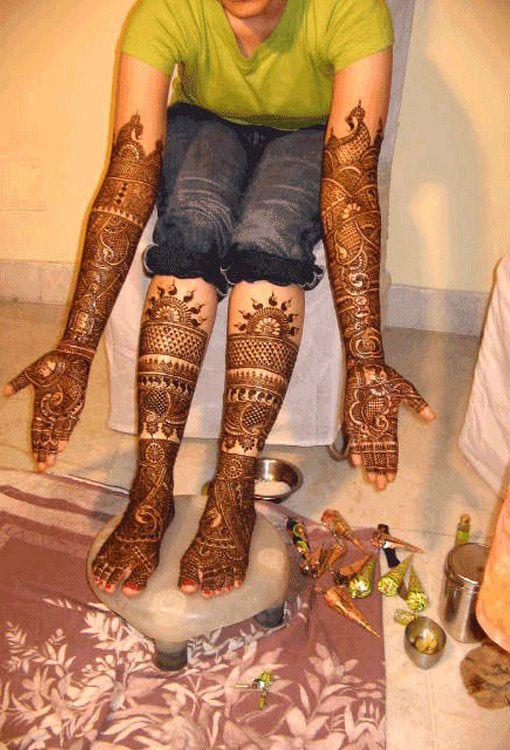 Временные татуировки хной на ногах и руках (фото)