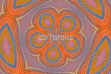 Orange and blue decoration background