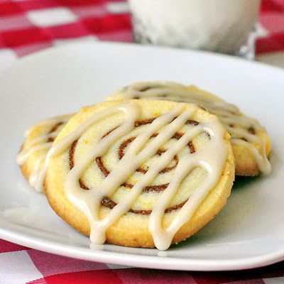 Orange Cinnamon Roll Cookies