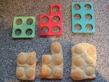 Numicon baking - this would be great to teach sharing of numbers...
