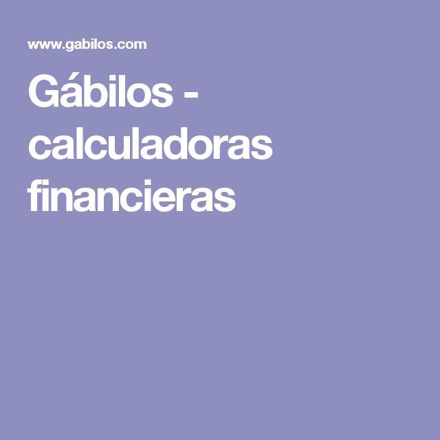 Gábilos - calculadoras financieras