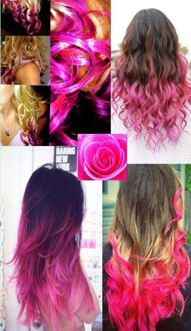 capelli pink shatush