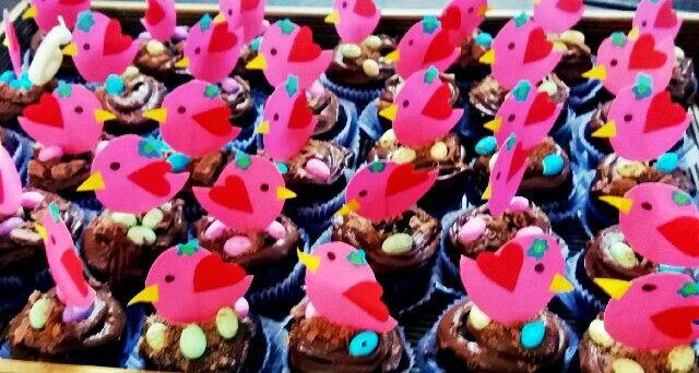 #voëltjie nessie cupcakes. Lika is 6!