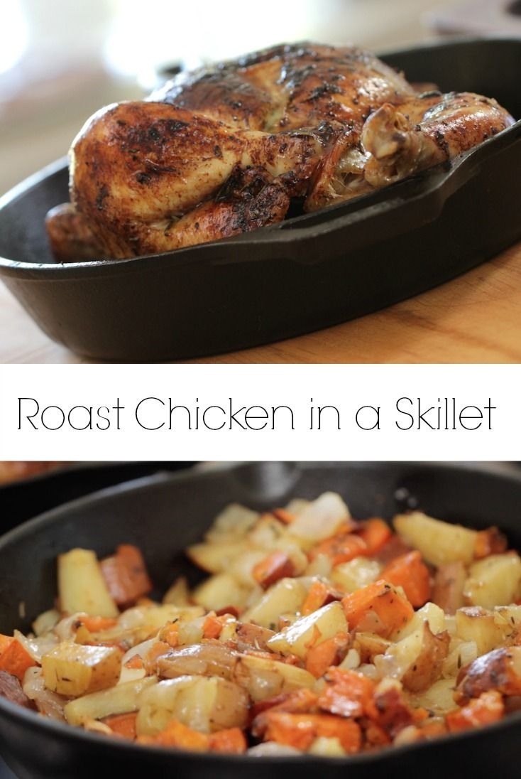 Roast Chicken and Caramelized Root Vegetables.  The perfect Sunday Night Dinner.  Makes great leftovers too. Recipe + Video Tutorial.