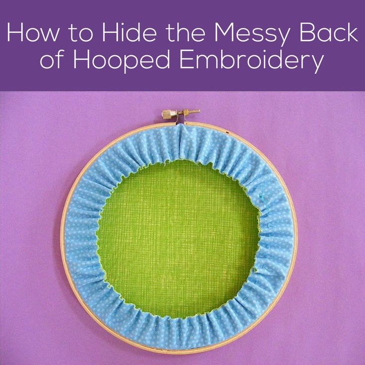 This super simple technique lets you frame your stitching in an embroidery hoop while hiding the messy back - in one easy step.