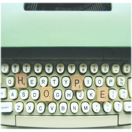 . #minty green #typewriter: Artworks Ideas, Wall Spaces, Mint Green, Green Stuff, Art Prints, Vintage Charms, Simply Hue, God Grace, Scrabble Letters