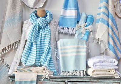 La La Linen: Turkish T Striped Bath Towels