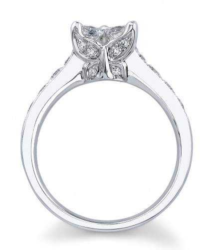 Calla Lily Butterfly Engagement Ring