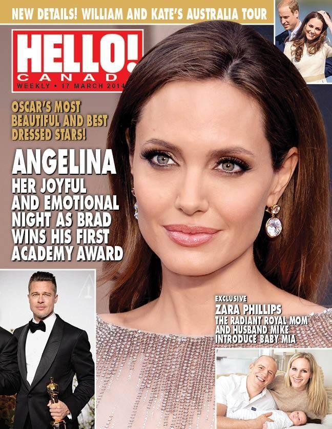 Angelina Jolie, Hello! Magazine [Canada] (17 March 2014)