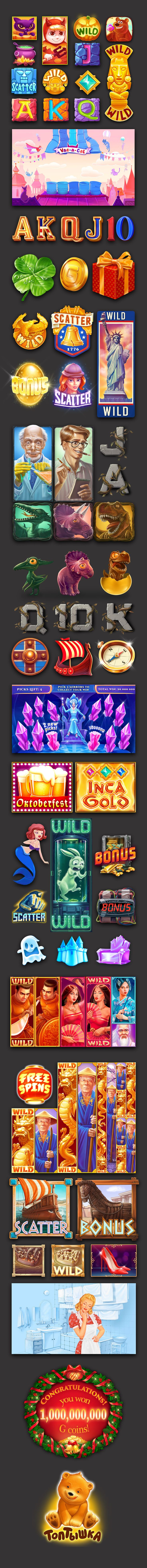 Icons for Gambina Slots. on Behance