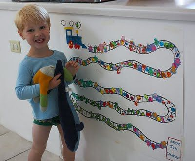 Chart idea for potty training... a road to mark dry days with a special incentive for reaching the end