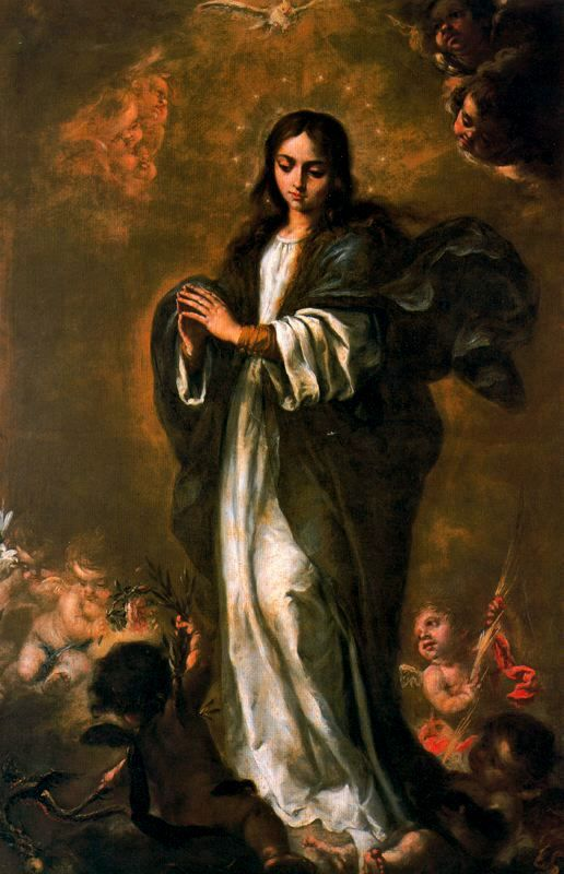 "Art from Spain - Juan de Valdés Leal (4 May 1622 – 15 October 1690) was a Spanish painter and etcher of the Baroque era. Several of his paintings treat the subjects of vanitas, transience and mortality. He became a painter, sculptor, and architect. ""La Inmaculada Concepción"". Museo de Bellas Artes de Sevilla"