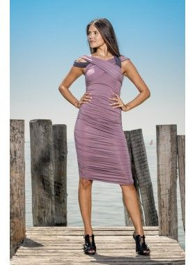 Louisa Okonye Edna Ruched Fitted Asymmetric Jersey Dress. Buy @ http://thehubmarketplace.com/Edna-Ruched-Fitted-Asymmetric-Jersey-Dress