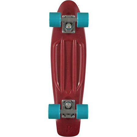The Penny Organic cruiser skateboard in maroon is a made with a biodegradable plastic deck that breaks down once in soil for renewable ride.