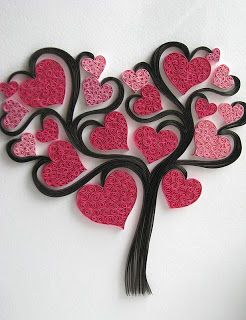 Quilled Heart Tree ♥