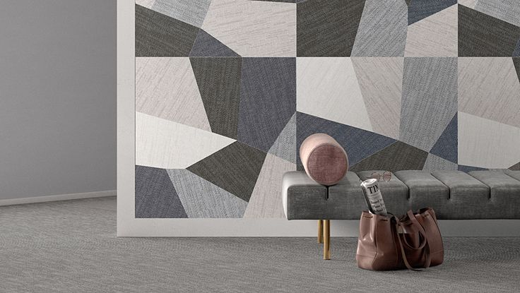 The DigitalArt series is a very unique series with a fabric look made on a three dimensional textured surface. A variety of laying patterns created by mixing and matching colours and sizes makes this collection perfect for any decor. Winner of the Ceramics Design Award at the Cersaie Show in 2015. #tile #floortile #walltile #tilepatterns #interiordesign