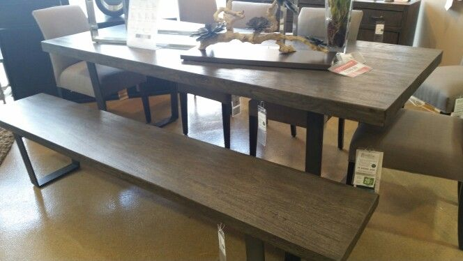 """Love love this table $1700 table 86x39"""" $600 bench  Walter E Smithe Outlet"""