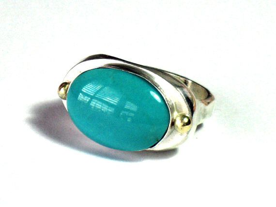 Statement Turquoise Rings, Oval Turquoise ring, Turquoise Silver, December Stone, Bezel Set, Oval Cabochon,Sterling Stone ,Jewelry Ring