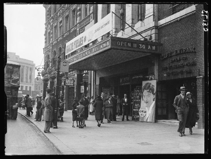 Trocadero Theatre, London A photograph outside the Trocadero Theatre, taken in May 1934 by Harold Tomlin for the Daily Herald. Theatre posters advertise the appearance on stage that night of Gracie Fields (1898-1979) - due to present the winner's cheque of £10,000 in the Daily Herald 'Radio Stars' contest. Gracie Fields, real name Grace Stansfield, was an English actress, singer and comedienne.Via The Daily Herald Archive