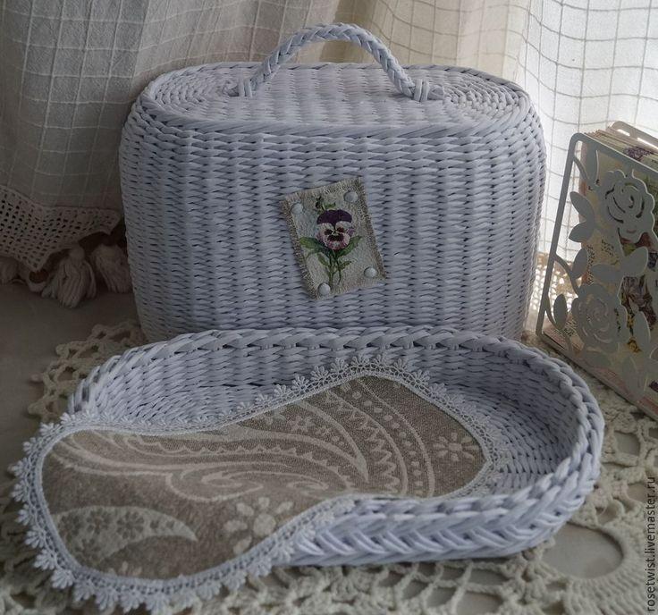 Купить Хлебница плетеная Snow-white - белый, белоснежный, универсальный, хлебница, хранение в кухне