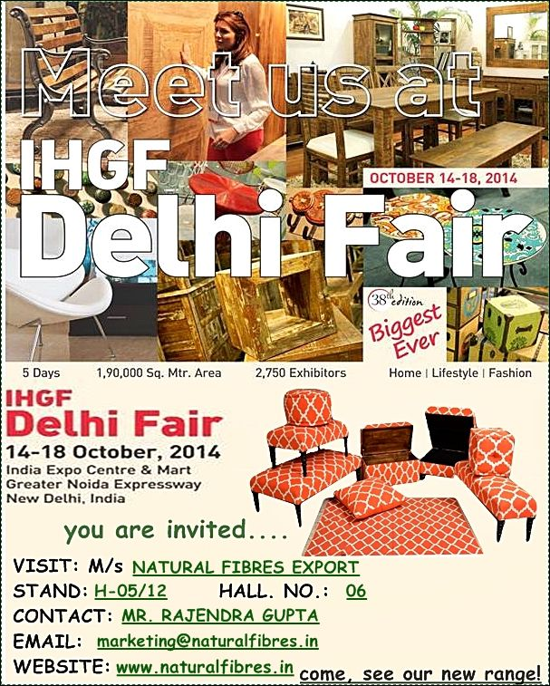 Indian Handicrafts and Gift Fair (14-18 October 2014)