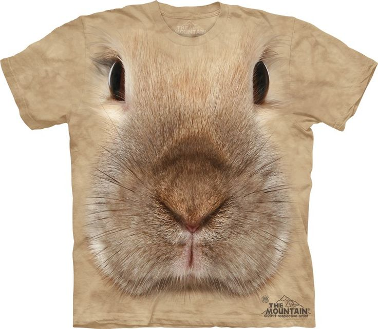 bunny face t-shirt - T-Shirt with Pets - Cute T-Shirts - Animals t-shirts for women - t-shirt present idea - small pet t-shirts - t-shirts with small pets for kids - kids clothing