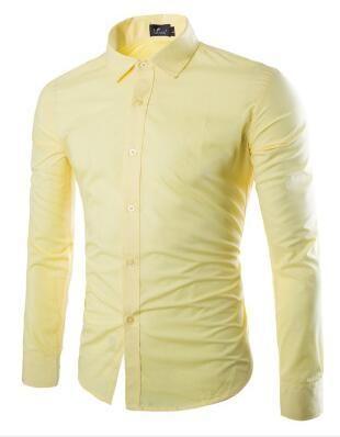 e54cdbe9235 2018 New Men s Long Sleeve Shirt High Quality Fashion Business Design