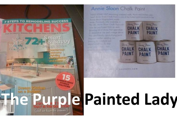 """Questions related to Annie Sloan Chalk Paint & Wax;  """"As shown in Kitchen 2012 magazine- Chalk Paint™ by Annie Sloan is suggested as being the hottest paint in the DIY Blogosphere!"""""""