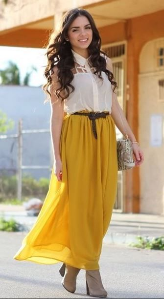 60412915aa0 Skirt Yellow By Rosie Orjuela