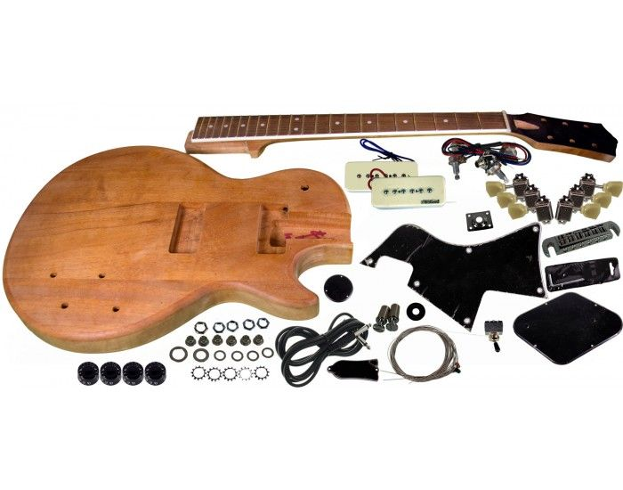 Solo Pro LP Jr Style DIY Guitar Kit  Mahogany Body, Unfinished