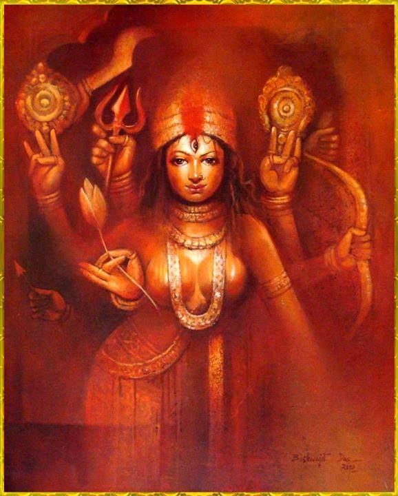 """Yaa Devii Sarva Bhooteshu Matru Roopena Samsthita Namastasyai Namastasyai Namastasyai Namo Namaha"" Meaning: I bow again and again to the Devi, who lives in all creatures in the form of Mother."