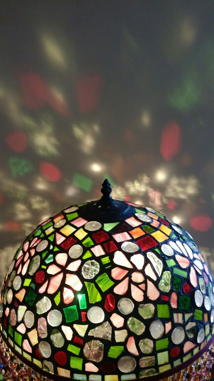 My bohemian copperfoiled lampshade