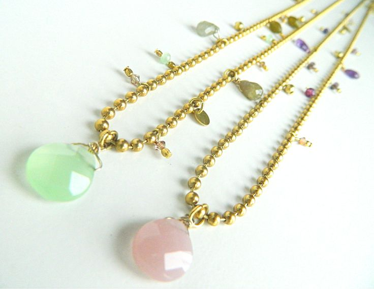 Arrow with semiprecious stons. Natanè, jewels, necklaces