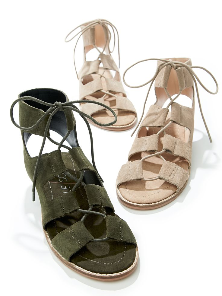 Suede lace-up sandals | Sole Society Cady | Crazy shoes, Lace up sandals, Me too shoes