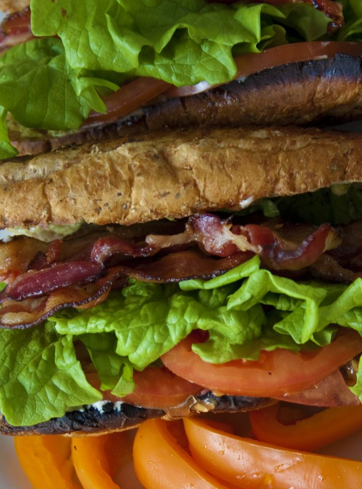 Recipe - Bacon-lettuce-tomato (BLT) sandwich with garlic scape mayonnaise. Must try @LePetitMas fermented garlic scapes.