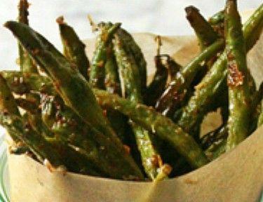 "Crispy Green Bean Fries | 10 Minutes to Healthier, Happier Green Bean ""Fries"""