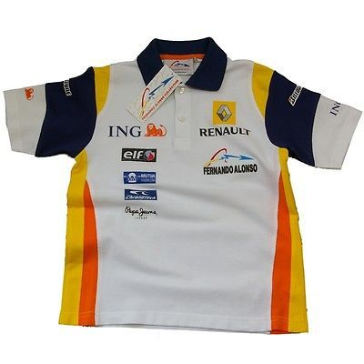 Polo #shirt childrens #formula 1 renault f1 team new fernando #alonso kids age 14,  View more on the LINK: 	http://www.zeppy.io/product/gb/2/122148007815/