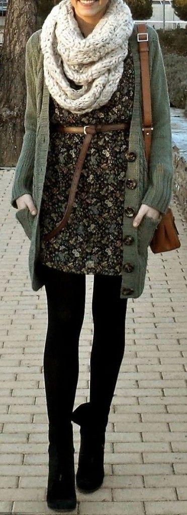 Vestido sueter bufanda                                                                                                                                                                                 Más