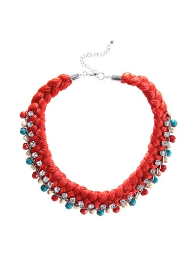 Shopping + collares trenzados de hilo: C 5 Collars, Blanco Colar, Collars Diy, Wire, Trenza Hilo, Collars Crochet, Braided Collars, Hilo Strass, Colar Entrançado
