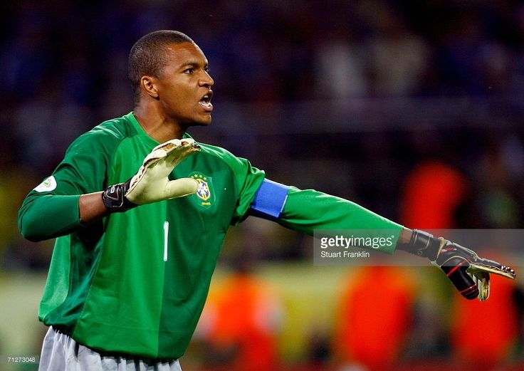 Goalkeeper Dida of Brazil gives instructions during the FIFA World Cup Germany 2006 Group F match between Japan and Brazil at the Stadium Dortmund on June 22, 2006 in Dortmund, Germany.