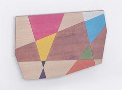 Tavolo da parete Libellula - Intarsiato a mano