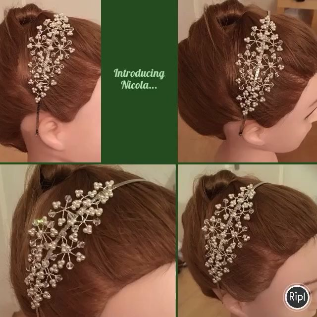 Handmade designer headpiece made by Kelly of www.tantrumsandtiaras.org bridal hair accessories