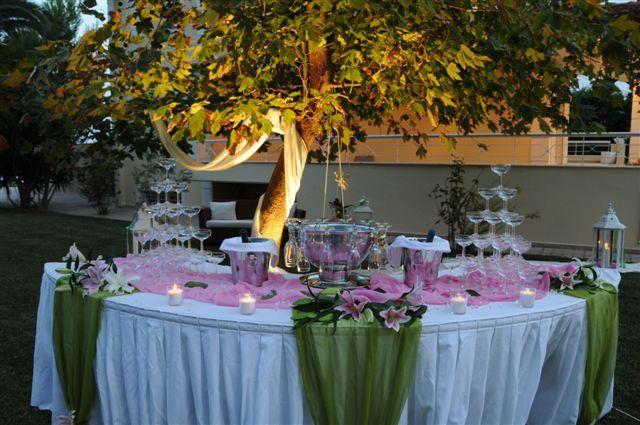 Γαμήλιο τραπέζι στο κτήμα γάμου