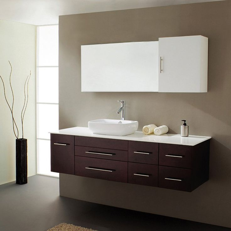 virtu usa justine single bathroom vanity set the brilliantly stylish wall mounted design of the virtu justine espresso single bathroom vanity will leave