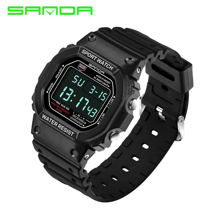 "ExtraShop - Buy ""<b>SANDA</b> 329 Digital Watch <b>Men</b> Waterproof Diving ..."