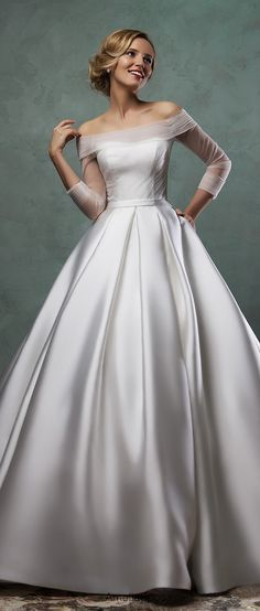 amelia sposa elegant silhouette ball gown wedding dresses 2016 paolina