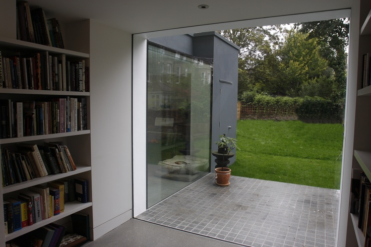 A large frameless structural glass picture window by IQ Glass
