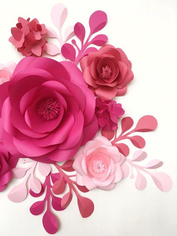 Habitación de bebé pared decoración flores de papel por MioGallery