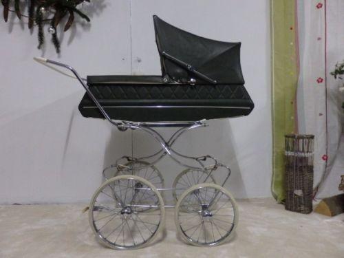 60er-Jahre-Nostalgie-Kinderwagen-MUTSAERTS-gruener-Skai-Kunstleder