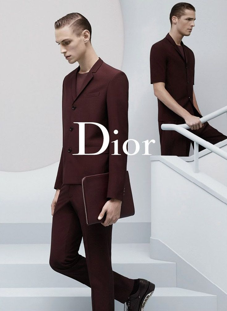 Edward Wilding and Victor Norlander front the Spring/Summer 2014 campaign of Dior, captured by the lens of Karl Lagerfeld.